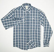 GANT by Michael Bastian Men's Designer Button Down Shirt Blue Plaid Size XL