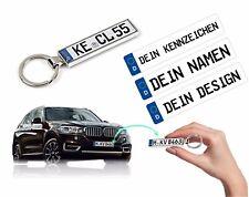 Auto Schlüsselanhänger mit KFZ Kennzeichen für Audi BMW VW OPEL SKODA Mercedes