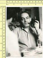 036 Man Smoking Tobacco Pipe, Abstract Artistic Guy Smoke Portrait vintage photo