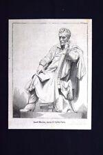 Lord Byron, statua di Egidio Pozzi Incisione del 1875