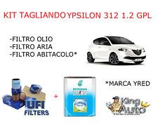 KIT TAGLIANDO FILTRI UFI LANCIA YPSILON 1.2 GPL 4 LITRI OLIO MULTIPOWER DAL 2011