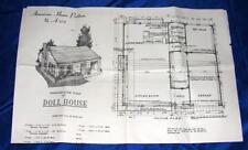 VTG American Home Magazine MAIL ORDER DOLL HOUSE PATTERN A572 Designer Masonite
