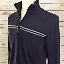 Banana Republic Men's Navy Long Sleeve Sweater, 1/4 Zipper, Cotton.   #mT