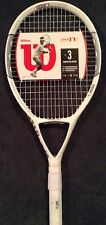 """WILSON nCODE N1 115 OVERSIZE STRUNG TENNIS RACKET NEW 4-1/2"""" WITH COVER BUY NOW"""