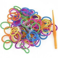 Colourful Rainbow Rubber Loom Bands Bracelet Marking Set With S-Clips 200/600PCS