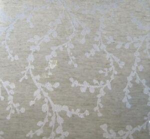 Tahari Home Fabric Tablecloth Sprigs 70 Round Tan