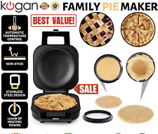 Family Pie Maker Deep Dish Non Stick Plates Sweet Savoury Pies Kitchen Machine