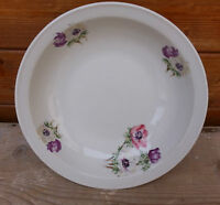 Antico piatto in ceramica con soprammobile floreale,vasellame,decorazione