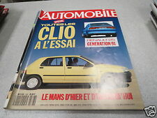 L AUTOMOBILE MAGAZINE N° 528 1990 RENAULT CLIO TOUR DE CORSE BMW 525i 24 HEURE *
