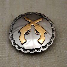 "4"" Nickel Silver & Brass Overlay Concho Cross Pistols"