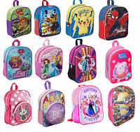 OFFICIAL Disney Character Girls Boys Backpack School Bag Rucksack Holiday Travel