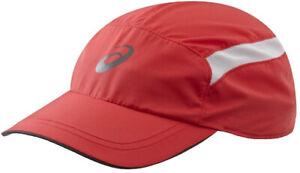 Asics Essentials Running Cap Red Lightweight Breathable Adjustable Strap