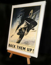 WAR TIME AVIATION  STRETCHED AND FRAMED CANVAS