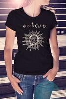 ALICE IN CHAINS Women Black T-Shirt Metal Band Tee Grunge Shirt Nirvana