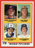 1978 Topps #703 Rookie Pitchers EX-EXMINT+ Jack Morris Detroit Tigers FREE S/H