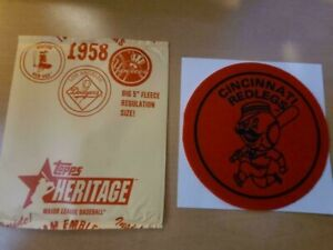 2007 Cincinnati Red Legs 1958 Topps Heritage Patch 5 x 5 inches Felt Patch