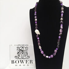 BOWERHAUS Amethyst Necklace - Keishi Pearl & Amethyst with 24K Gold Plated Clasp