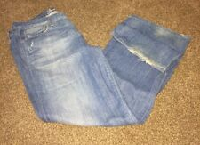 American Eagle Original 77 Jeans size 14 short distressed