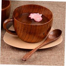 260ml / 8.8 oz Natural Jujube Bar Wooden Cups Mugs With Handgrip Coffee Mug CO