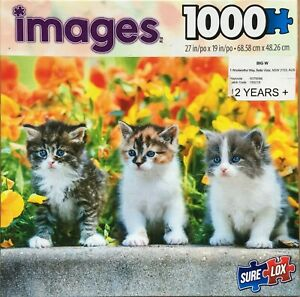 1000 PIECE JIGSAW PUZZLE IMAGES THREE KITTENS