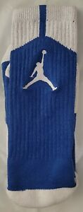 Nike Mens Air Jordan Dri-Fit Crew Socks Blue 530977 Size 8-12