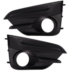 OEM 2017-2018 Subaru Impreza Front Left & Right Bumper Fog Light Cover Bezel SET