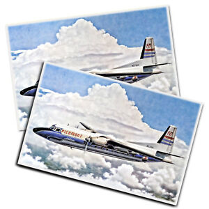 Two Piedmont Airlines Prop Plane In The Clouds Color Posters 11x17 Inches