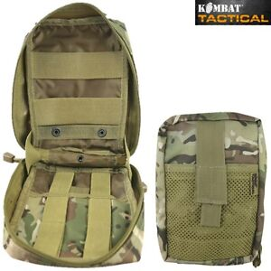 MEDIC MOLLE WEBBING POUCH ZIPPED FIRST AID KIT HOLDER BTP MTP CAMO BRITISH ARMY