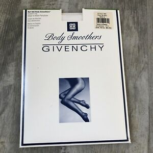 Givenchy Body Smoothers Support Leg Pantyhose 555 Size B White Tres Blanc