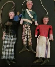 """Vintage Pottery, Cloth, Wooden Folk Art Dolls, Mexican 5"""""""