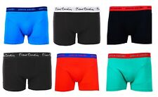 Mens Pierre Cardin Paris Stripe Plain Underwear Seamless Boxer Shorts Pack of  5