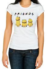 Friends Tv Show White Women's 3/4 Short Sleeve T-Shirt K504