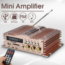 Mini Hi-Fi 600W 2 CH Stereo Audio Power Amplifier USB SD FM Car Auto Motorcycle