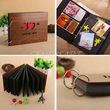 Handmade Wooden DIY Family Baby Lovers Memory Book Wedding Photo Album Gift