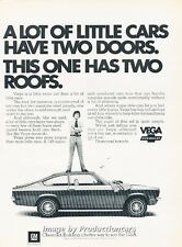 1972 Chevrolet Vega 2-door Original Advertisement Print Art Car Ad H80
