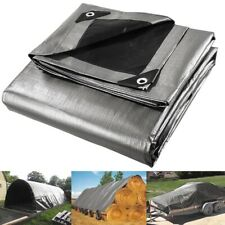 10ft x15ft Heavy-Duty Poly Tarp Reinforced Canopy Uv protection Water Proof