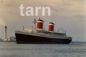 35mm slide Shipping scene Cruise ship United States Southampton 1960s r175