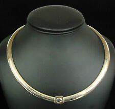 (RI2) 14K Yellow Gold Omega Chain Necklace - 52.6g - 17.75 Inches