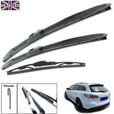 "Mazda 6 Estate 2007-2012 hybrid wiper blades set of front & rear 24""16""14"""