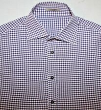 MSRP $750 BOTTEGA VENETA  Purple Cotton Long-Sleeve Button-Up Dress Shirt 54