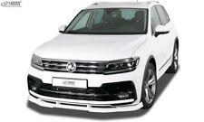 RDX Spoilerlippe für VW Tiguan AB 2016 R Line Schwert Front Ansatz Lippe