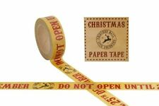 Christmas Present Gift Wrapping Reindeer Paper Tape Sellotape 10 Metre Roll