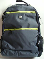 NWT SWISS GEAR Gray Computer Backpack Laptop Book Bag Neon Digital Case Padded