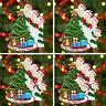 Personalised Family Christmas Tree Xmas Decoration Ornament Peeking Family 2-8