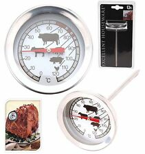 Stainless Steel Meat Thermometer Food Poultry BBQ Temperature Cooking Probe
