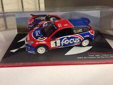 Ford Focus WRC NO1 Rally De Cangas Del Narcea 2002 1.43 Model Car ref600