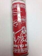 COME TO ME ( VEN A MI ) UNSCENTED SILK SCREENED CANDLE IN GLASS
