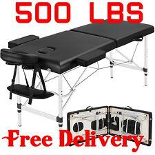 500Lb heavy duty Aluminium Portable Massage Table Height Adjustable Facial Salon