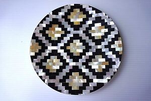 "5.5""  Mother of Pearl Plate, Caviar Serving Plate Homemade Made in Thailand"