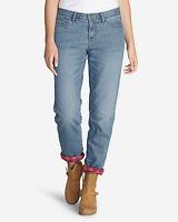 Eddie Bauer Boyfriend Flannel-Lined Jeans, size 8, NWT